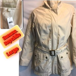 Banana Republic Women's trench Jacket Large